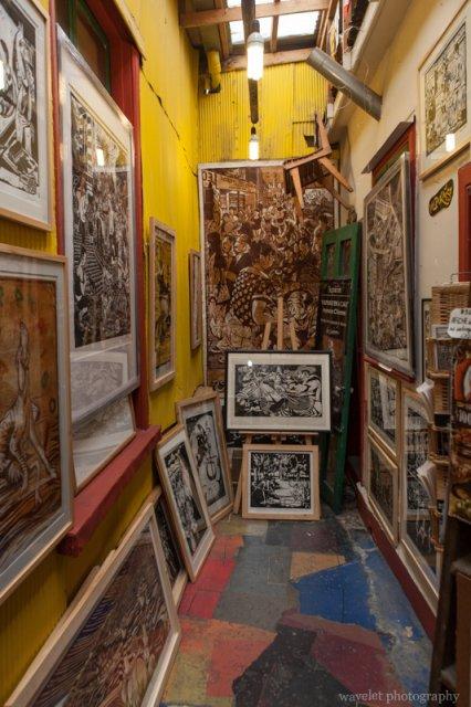 A art gallery at Cerro Concepción area, Valparaiso