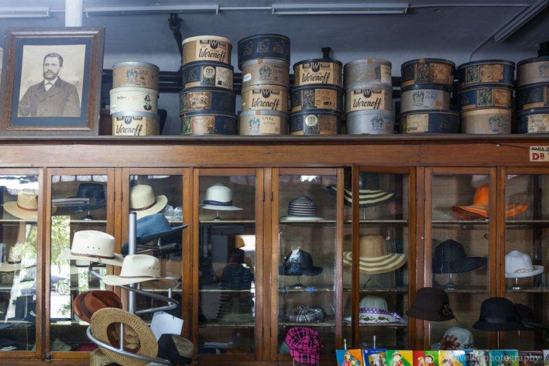 A hat shop at Valparaiso