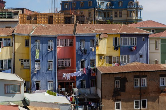 Colorful houses at Cerro Bellavista, Valparaiso
