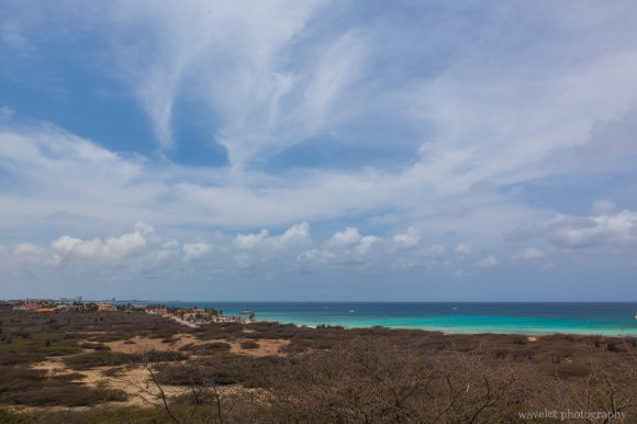 Overlook the northern tip of Aruba from Restaurant La Trattoria el Faro Blanco