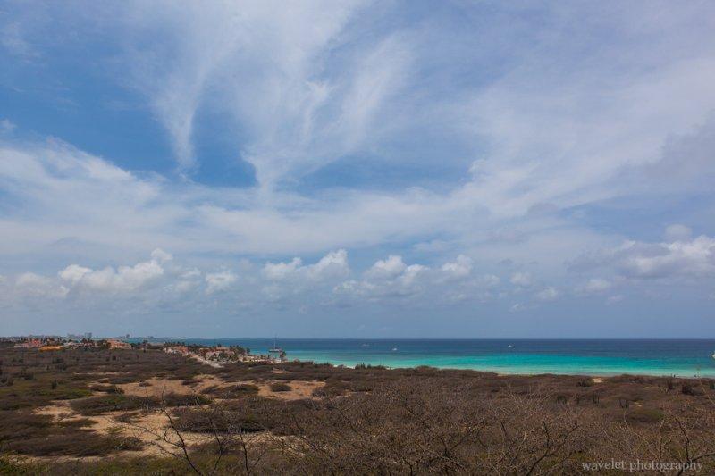 Overlook the northern tip of Aruba from Restaurant La Trattoria el Faro Blanco
