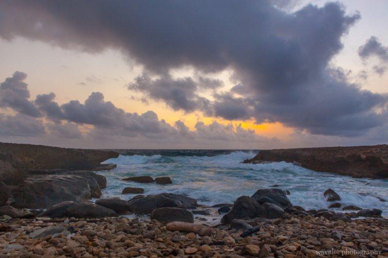 Sunrise at northeastern coast Alto Vista Chapel