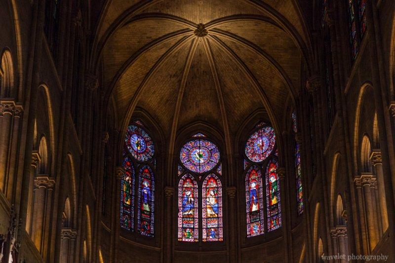 Chancel windows of Notre-Dame, Paris
