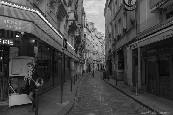 A small stree on Rue Saint-Jacques, Latin Quarter, Paris