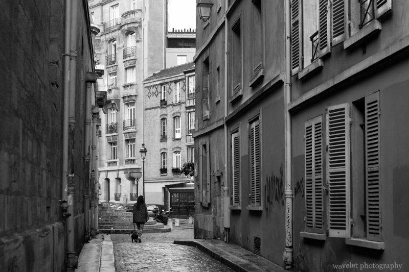 The street next to Saint-Étienne-du-Mont, Latin Quarter, Paris
