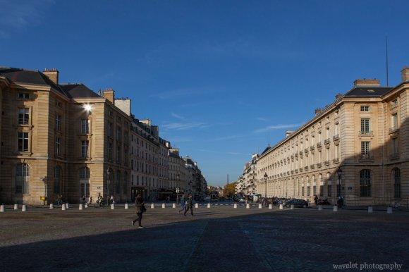 Look through Rue Soufflot from Panthéon, Latin Quarter, Paris