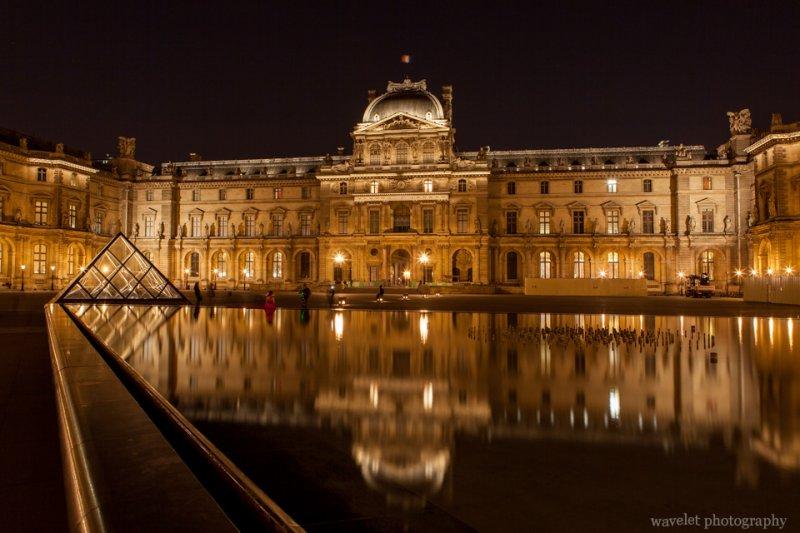 Palais du Louvre at night, Paris