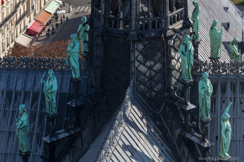 Apostles on the spire, Notre-Dame de Paris