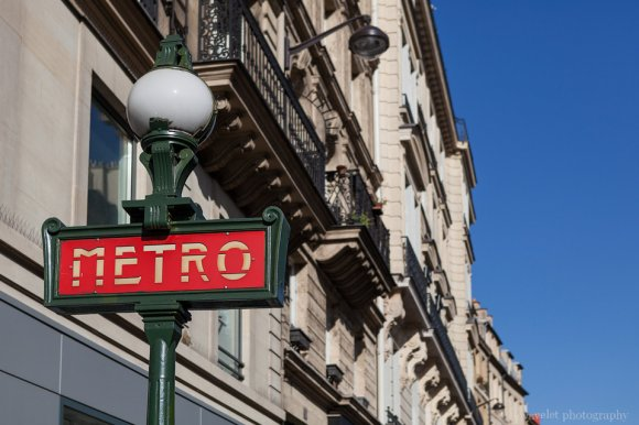 Metro sign on Rue du Renard, Paris