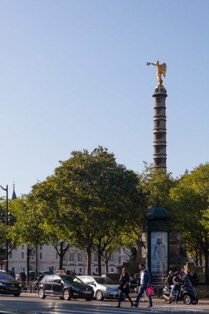 La Place du Châtelet and La Fontaine du Palmier, Paris