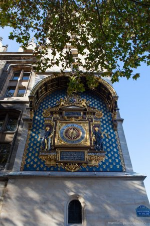 Paris's first public clock on Tour de I'horloge, Conciergerie, Paris
