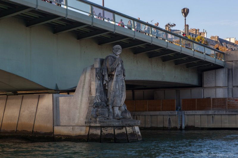 The Zouave statue at Pont de l'Alma, Paris