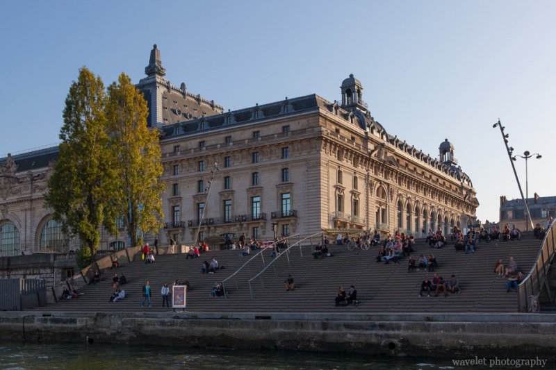 Musée d'Orsay from the Seine river, Paris