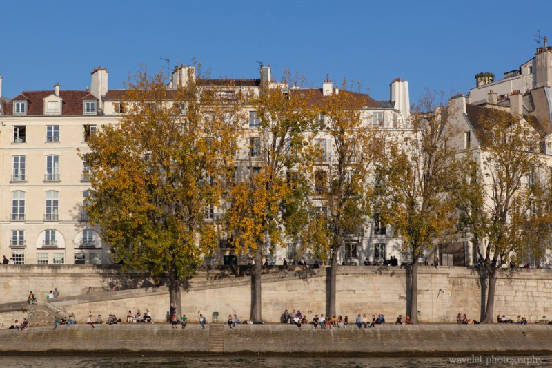 The southern side of Île Saint-Louis, Paris