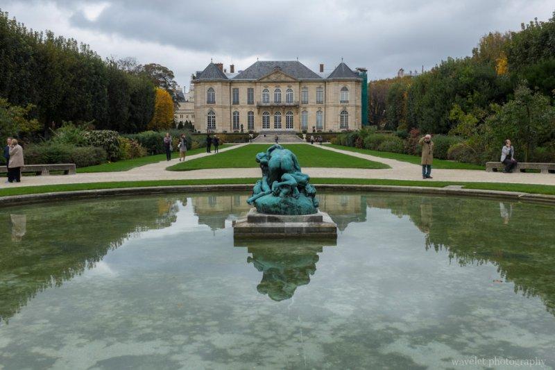The garden of the hôtel Biron, Musée Rodin, Paris