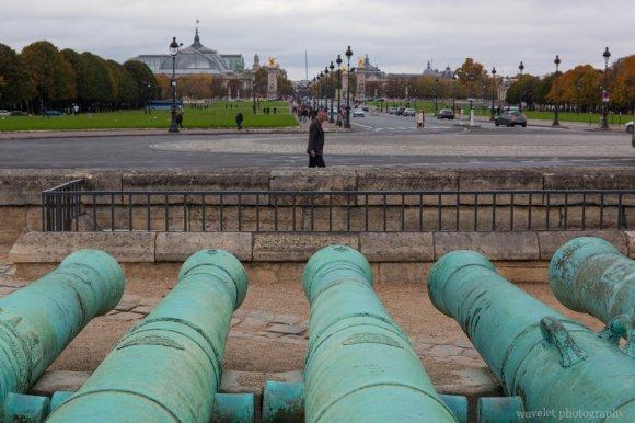 The cannons of Les Invalides, Paris