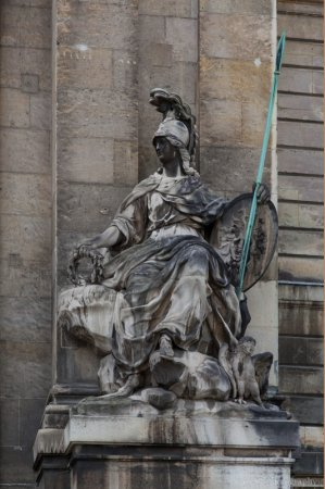 Statue to the right side of the entrance to Les Invalides, Paris