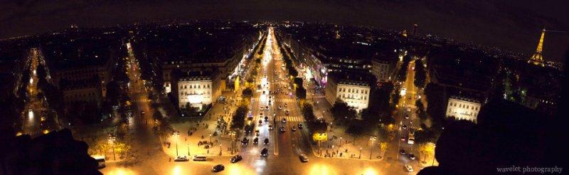 Paris as seen from the top of Arc de Triomphe, Paris