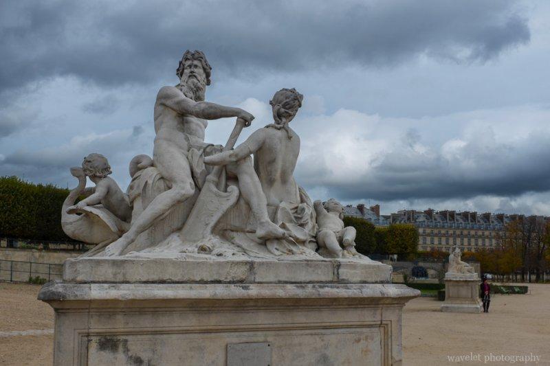 La Seine at la Marne by Nicolas Coustou at Tuileries Garden, Paris