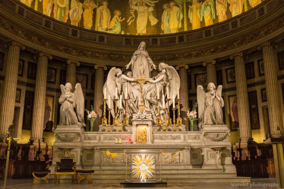 The statue by Charles Marochetti on the altar of the Église de la Madeleine, Paris