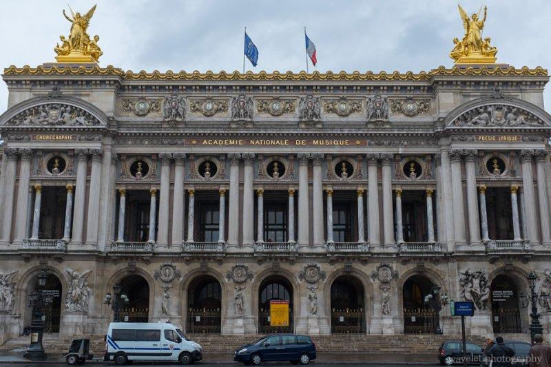 The façade of the Palais Garnier opera house, Paris