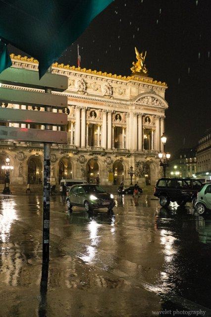 Palais Garnier (Opéra) in the rain, Paris