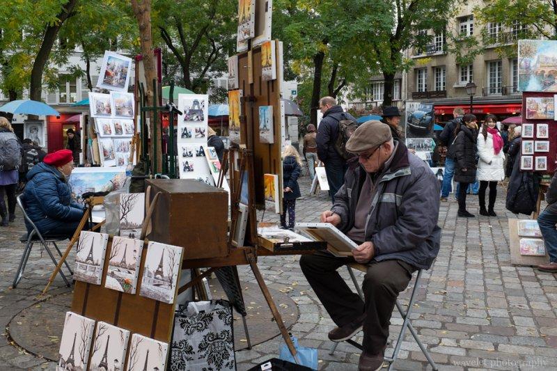Painters at Place du Tertre, Montmartre, Paris