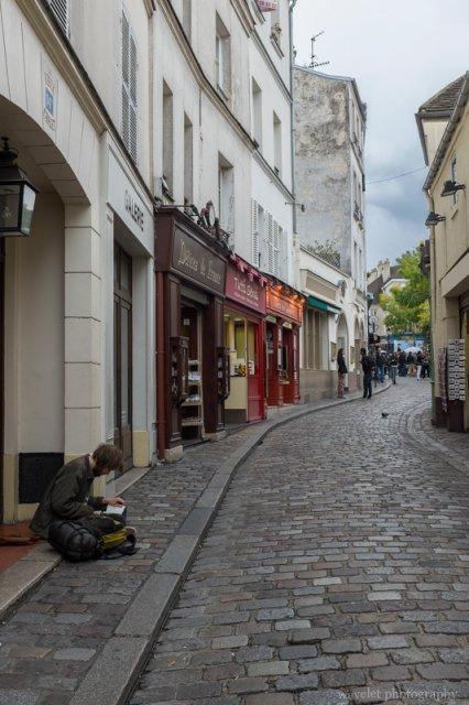 Rue Norvins near Place du Tertre, Montmartre, Paris