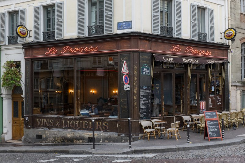 Restaurants at Montmartre, Paris