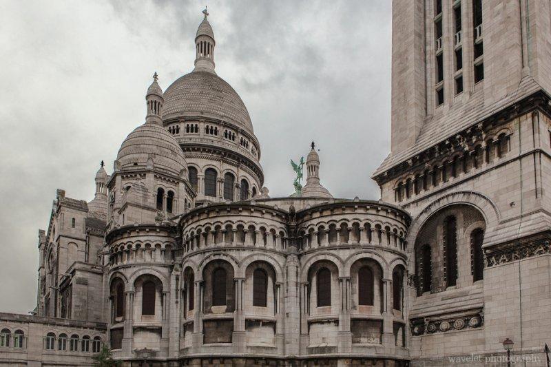 The rear view of Sacré-Cœur and the Campanile, Paris