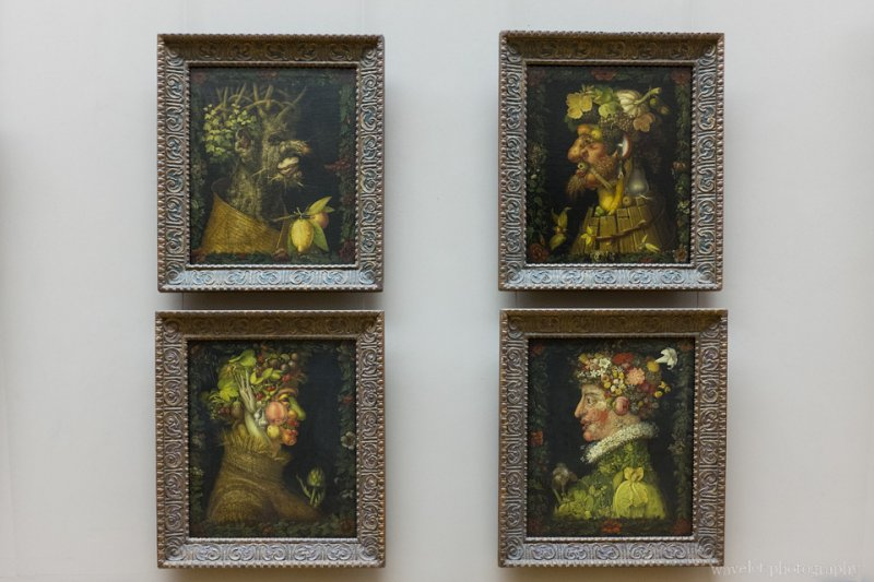 Four Seasons Painting by Giuseppe Arcimboldo, Musée du Louvre, Paris