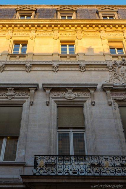 Building in Rue Cambon at sunrise, Paris