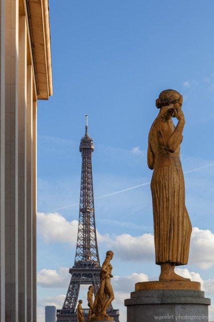 Overlook Eiffel Tower from Palais de Chaillot, Paris