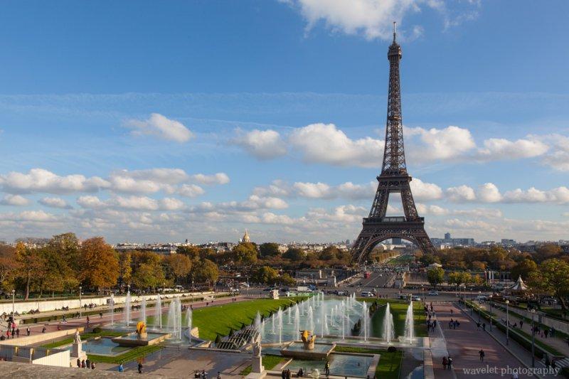 Jardins du Trocadéro and Eiffel Tower, Paris