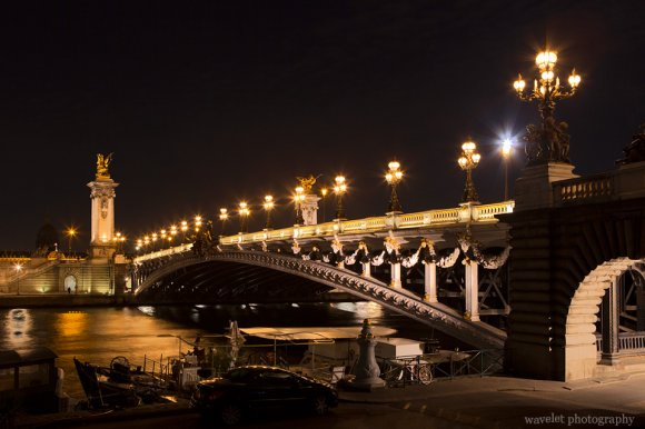 Pont Alexandre III in the night, Paris