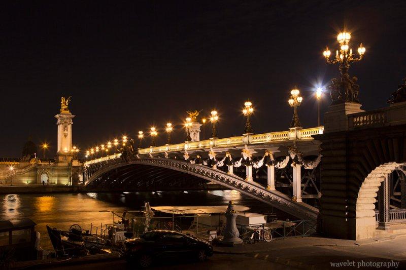 Pont Alexandre III in the night, Paris