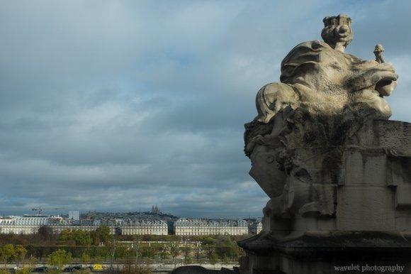 Overlook Jardin des Tuileries and Sacré-Cœur in the far background from Musée d'Orsay, Paris