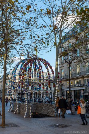Metro station in Place Colette near Palais Royal, by Jean-Michel Othoniel, Paris