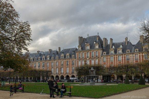 Place des Vosges in Marais district, Paris