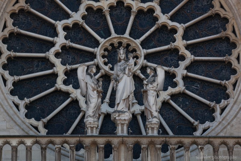 The rose window of the west façade of Notre-Dame de Paris