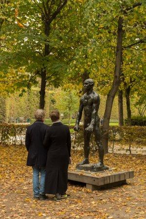 Garden of Orpheus, the sculpture garden in Musée Rodin, Paris