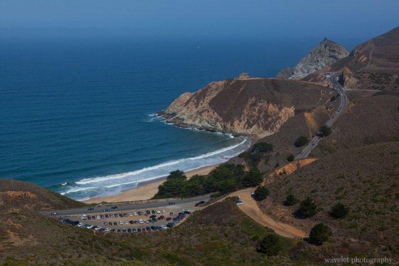 Overlook Gray Whale Cove State Beach from Montara Mountain
