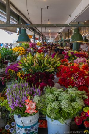 Flowers in the Public Market, Seattle