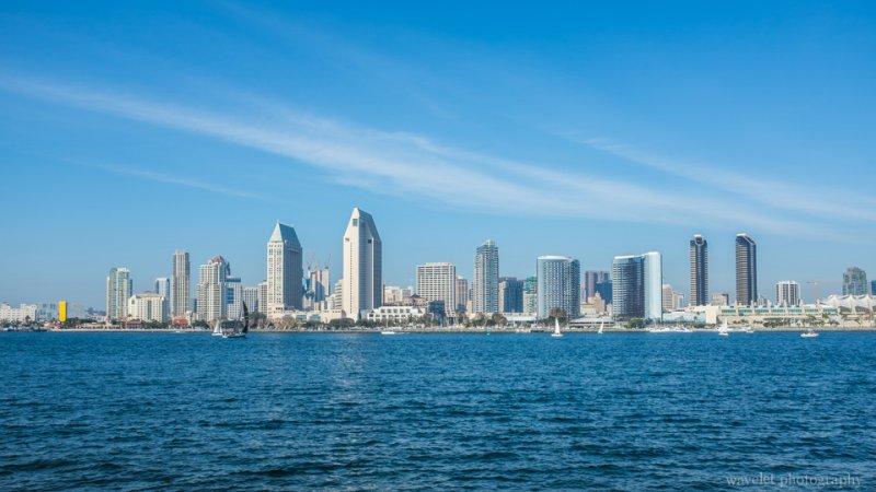 San Diego Skyline, from Centennial Park