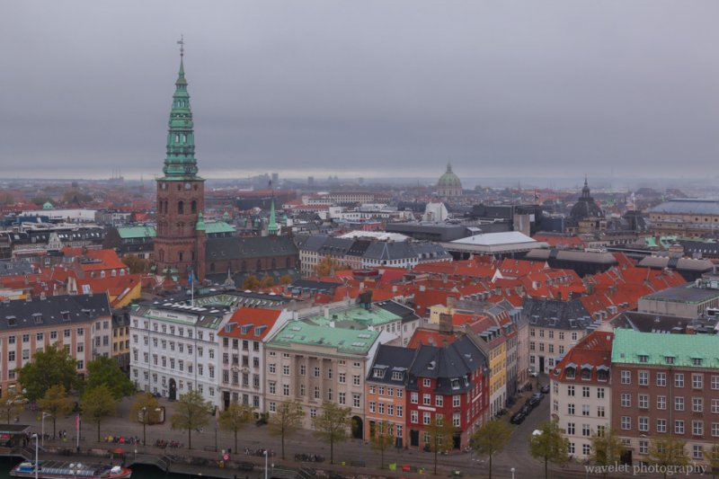 Overlook the city from the Tower of Christiansborg, Copenhagen