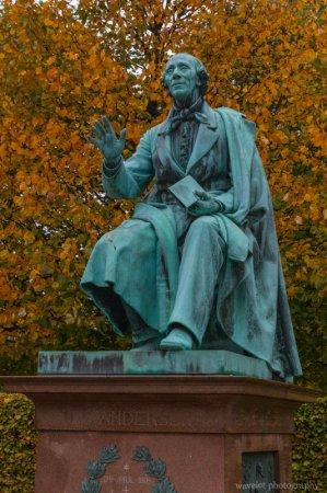 The statue of HC Andersen, Rosenborg Castle Gardens, Copenhangen