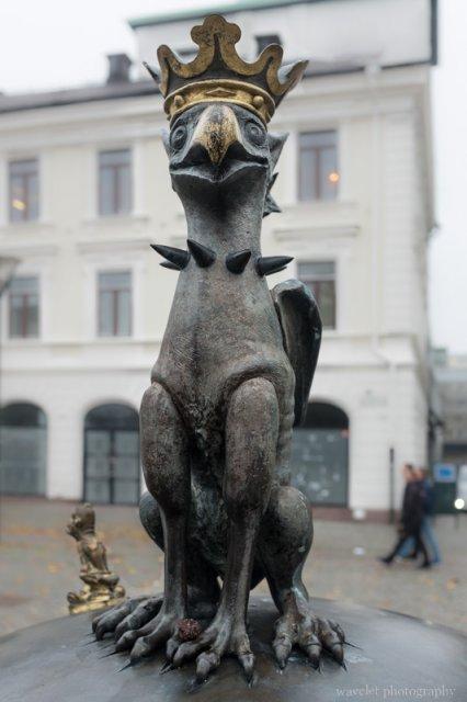Sculpture on Gustav Adolfs torg, Malmö