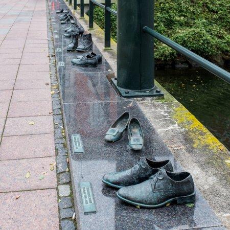 Shoe sculpture on Davidshallsbron, Malmö