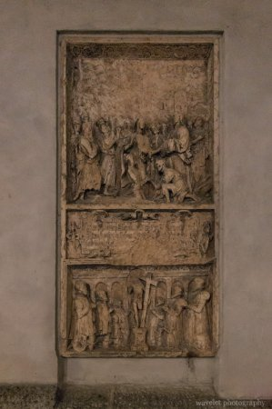 Relief on the back wall of Frauenkirche, Munich, Germany