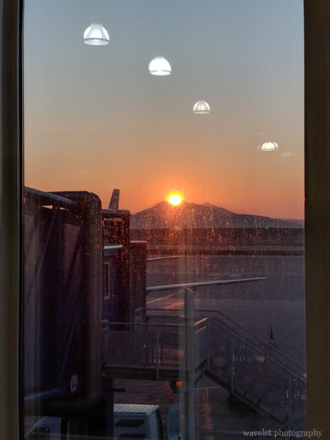 Sunrise, Athens International Airport, Greece